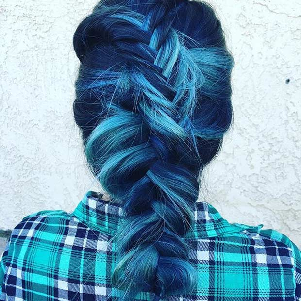 अंधेरा Blue and Light Blue Hair