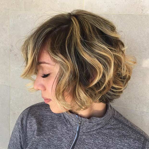 édesem Blonde Balayage Highlights for Short Hair