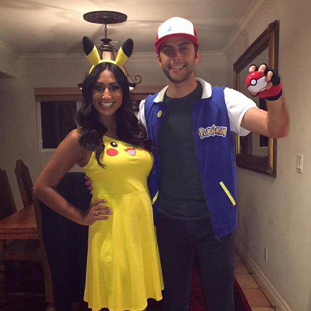 פוקימון Ash Pikachu Couples Halloween Costume