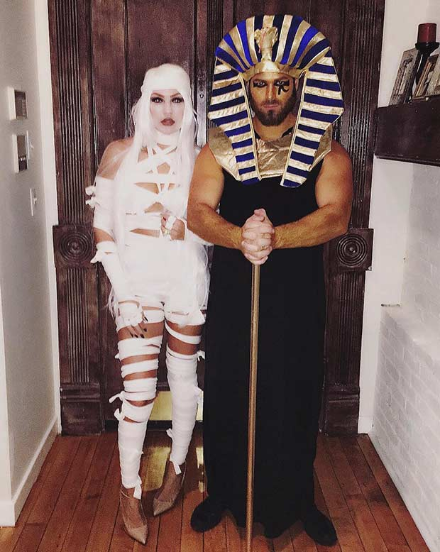 אִמָא King Tut Couples Costume Idea