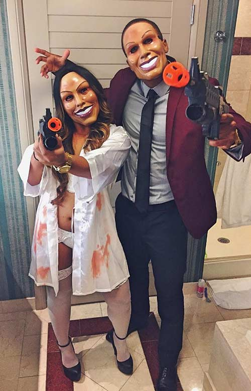 ה Purge Couples Halloween Costume
