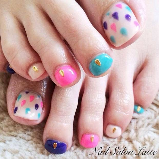 Simplu Pastel Pedicure Design