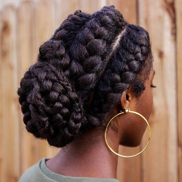 אֵלָה Braids Chignon Hairstyle