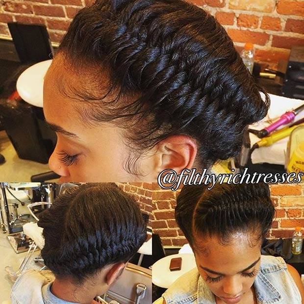אֵלָה Fishtail Braids Updo