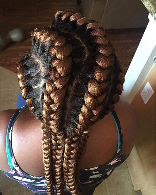 קַרַמֵל Brown Goddess Braids