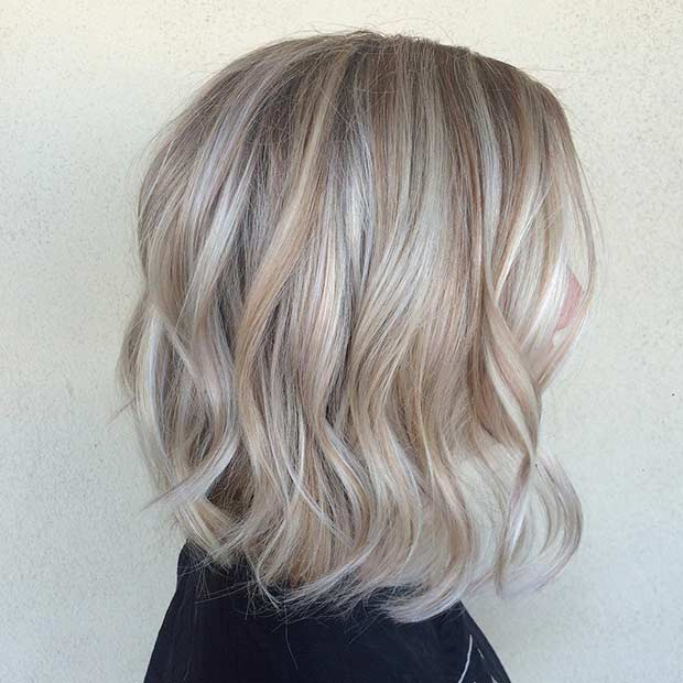 Blond Sombre Long Bob Hairstyle