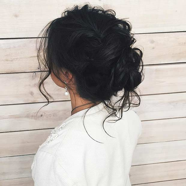 गंदा Prom Updo for Long Hair
