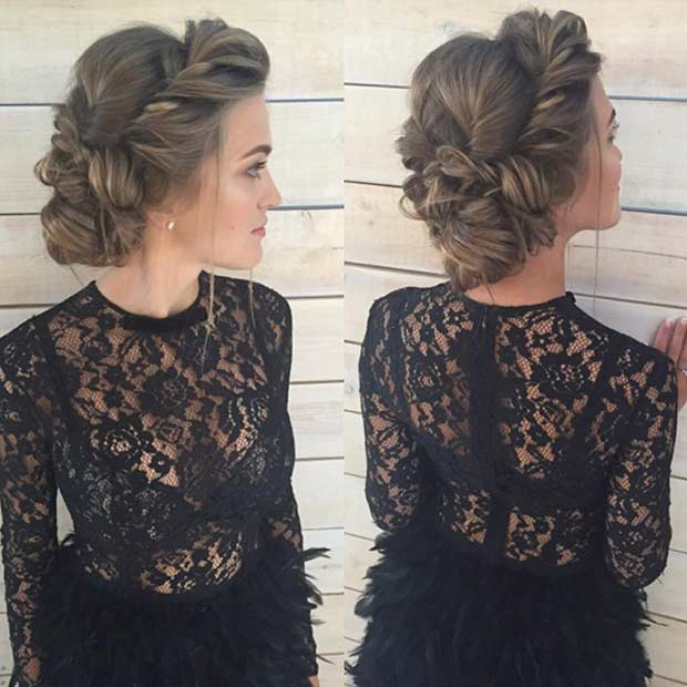 Romantikus Twisted Updo for Prom
