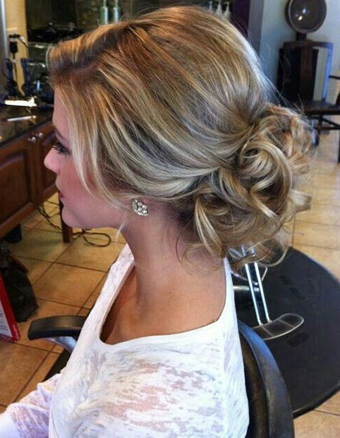 ugratta Bun Hairstyle for Prom