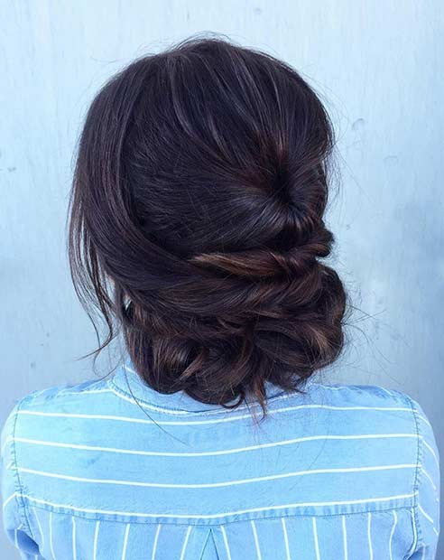 सरल and Elegant Updo for Prom
