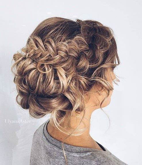 गंदा Braided Updo for Prom
