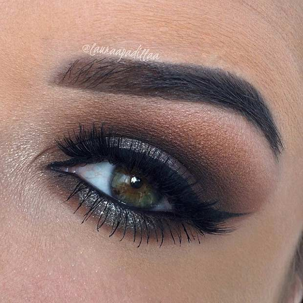 Megdöbbentő Smokey Eye Look for Green Eyes