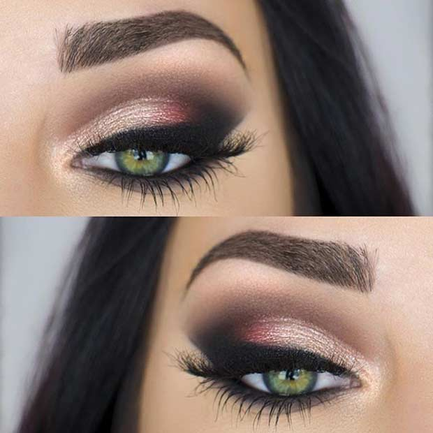 Este Makeup Look for Green Eyes