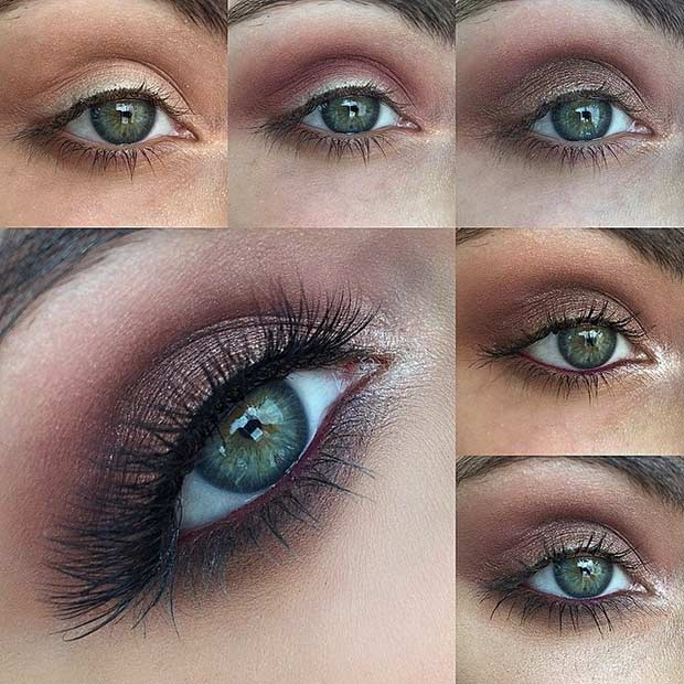 Könnyen Smokey Eye Tutorial for Green Eyes