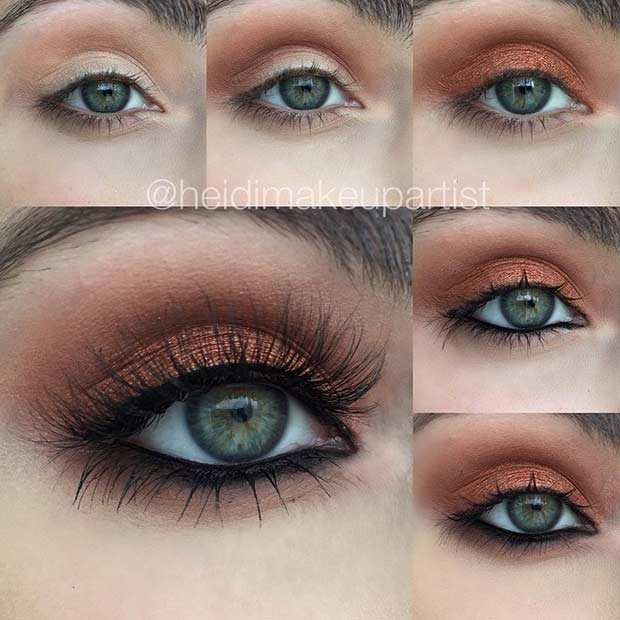 baker Eye Makeup Look for Green Eyes