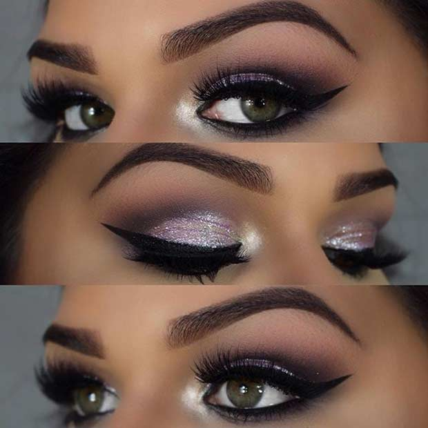 Glamurozno Light Purple Eye Makeup Look for Green Eyes
