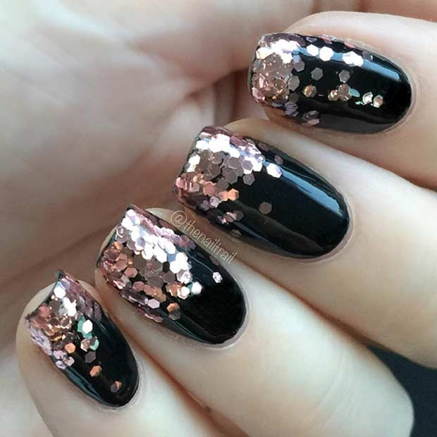 अंतिम Minute New Year's Eve Nail Design