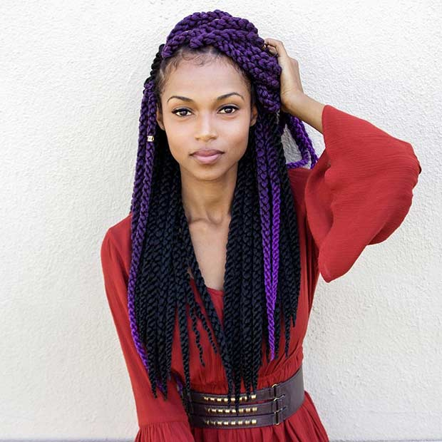 Црн and Purple Crochet Twists