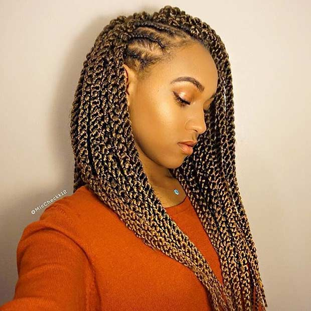 Кукичање Twists with Side Cornrows