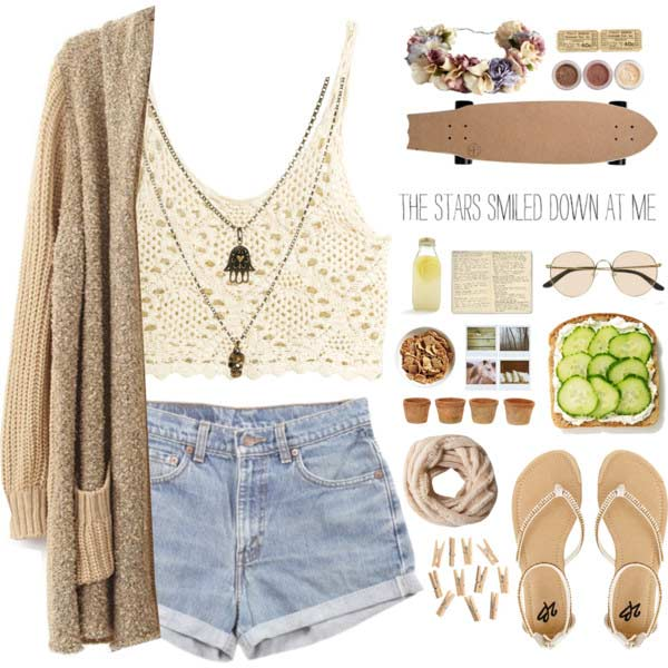 Traper Shorts Crochet Top Coachella Outfit