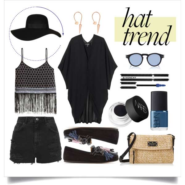 Неформалан All Black Coachella Outfit
