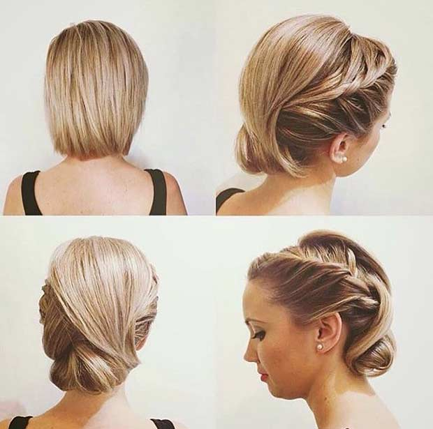 Vjenčanje Updo for Bob Hair