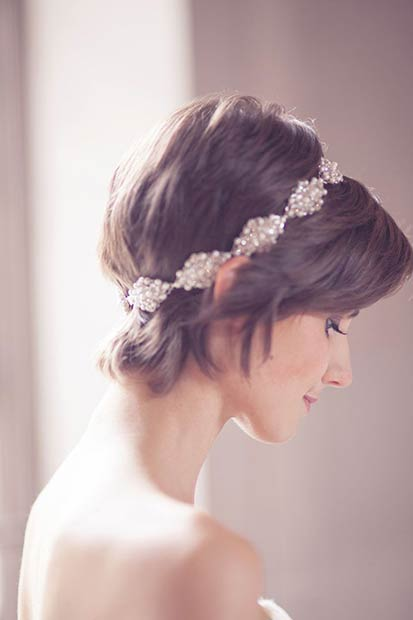Sjajno Gatsby Pixie Wedding Hairstyle