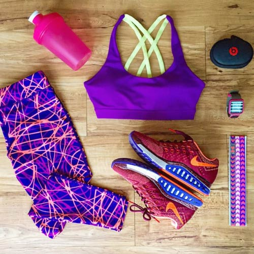 Љубичаста Workout Outfit for Women