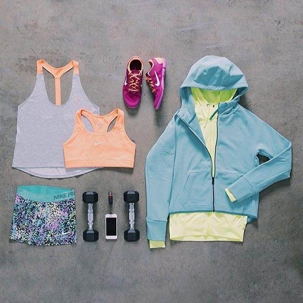 Színes Nike Workout Outfit for Women