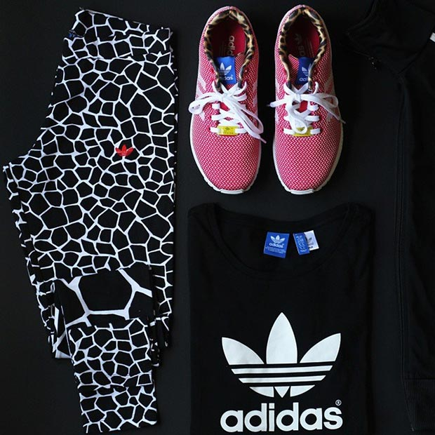 Fekete and White Adidas Workout Outfit