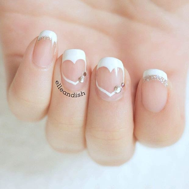 бео Heart Valentines Day Nails