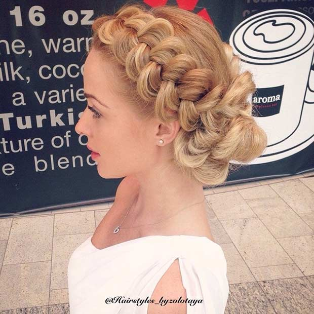 holland Braid Updo for Bridesmaids