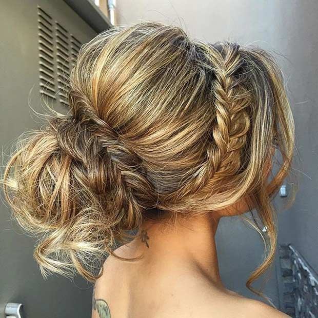 מקוננים Fishtail Updo for Long Hair