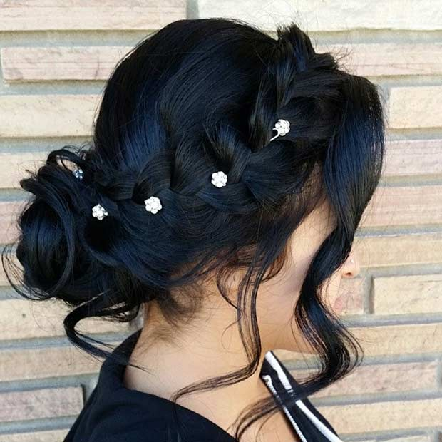Aranyos Updo for Bridesmaids with Braids