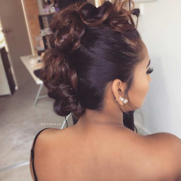 פו Mohawk Updo for Bridesmaids