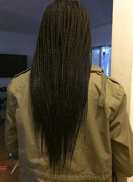 mikro Braids Style for Black Women