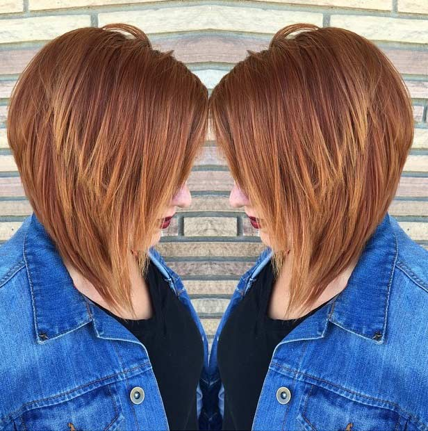 ters Copper Bob Haircut