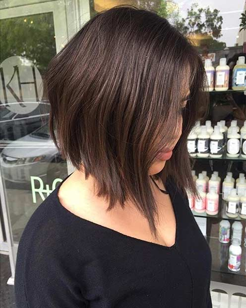 modaya uygun Inverted Bob Haircut Idea