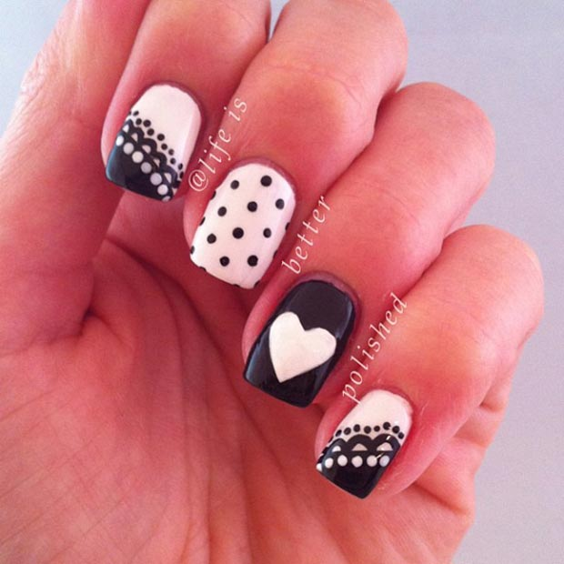 Lepo Black and White Nail Design