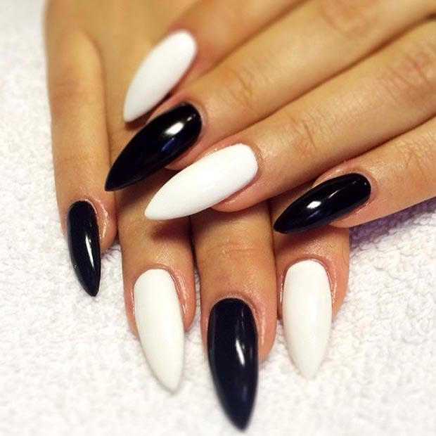 Enobarvno Stiletto Nails