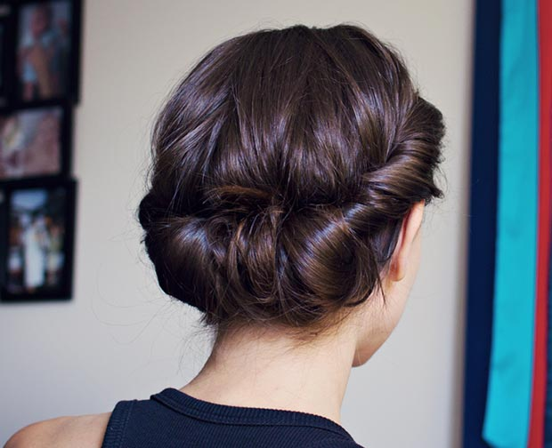 Preprosto Headband Updo for Long Hair