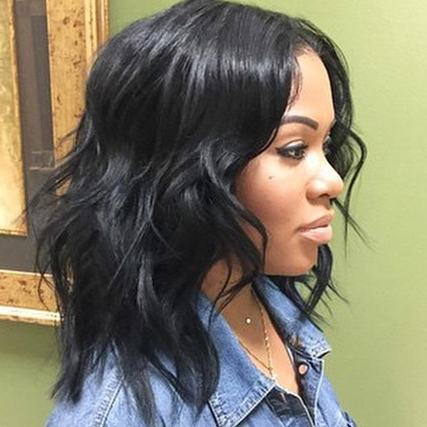 Hosszú Bob Messy Weaves Hairstyle