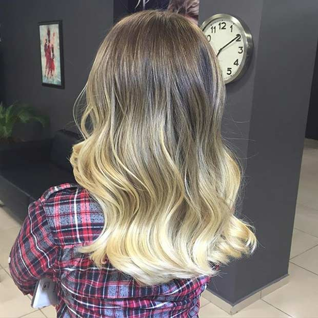 Средње Hair Blonde Balayage Ombre
