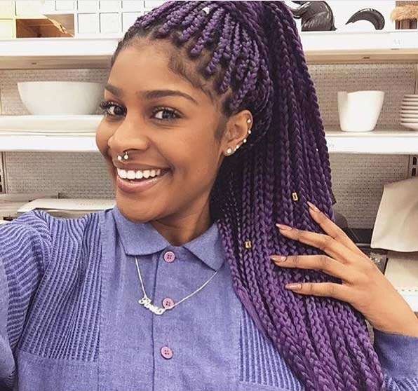 Lila Poetic Justice Braids
