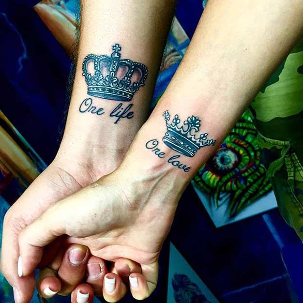 Menő King and Queen Wrist Tattoos