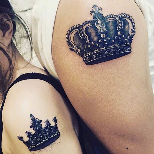 מלך and Queen Arm Tattoos for Couples