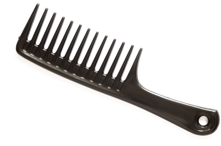א wide-tooth comb is your hair's friend.