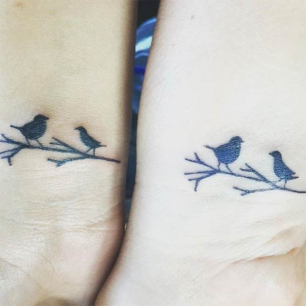 ציפורים on the Branch Matching Tattoos