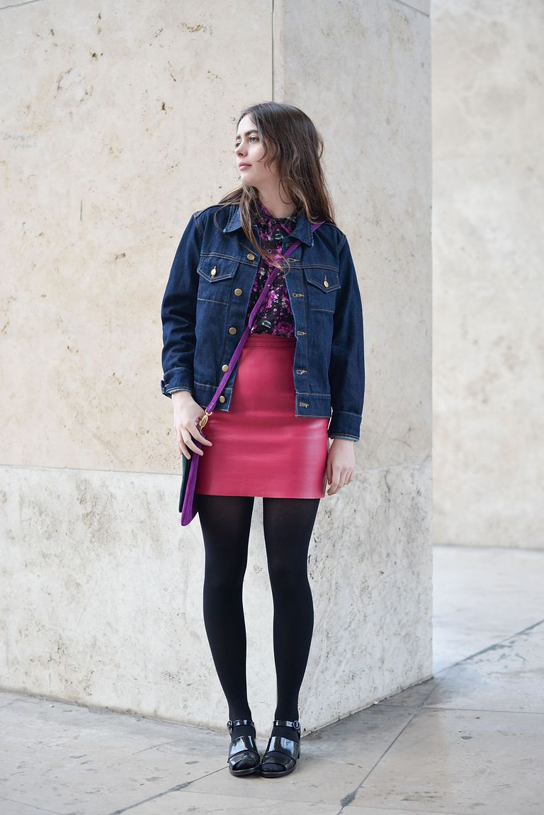 utca style photo with jean jacket and skirt