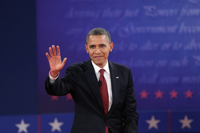 Mentés to Board Barack Obama And Mitt Romney Participate In Second Presidential Debate
